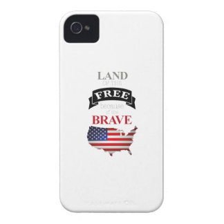 Land of the free because of the brave iPhone 4 case
