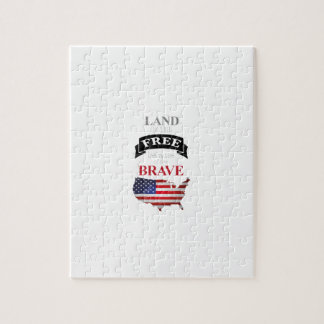 Land of the free because of the brave jigsaw puzzle