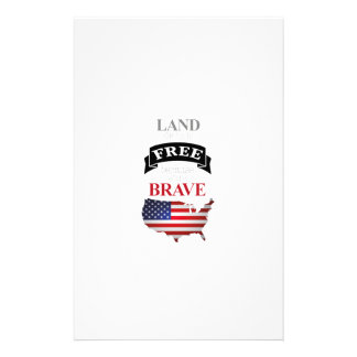 Land of the free because of the brave stationery