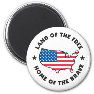Land of the Free Design Magnet