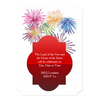 Land Of The Free July 4th Party Invitation