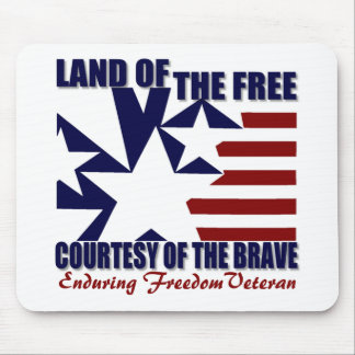 Land of the Free: OEF Vet Mouse Pad