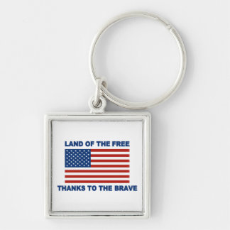 Land Of The Free Thanks To The Brave Key Chains