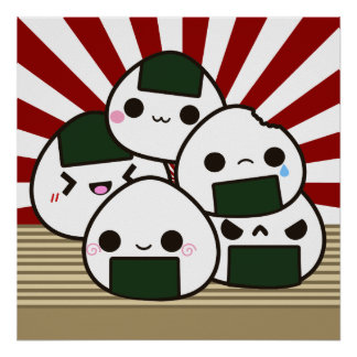 Land of the Rising Onigiri Poster