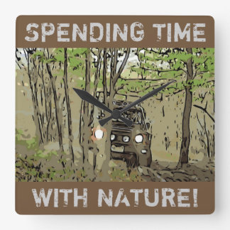 LAND Rover Defender 90 - TIME with NATURE Wall Clock