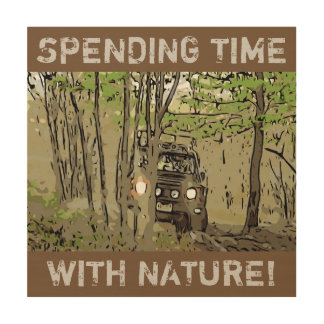 Land Rover Defender 90 - TIME with NATURE Wood Canvas