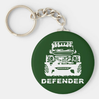 Land Rover Defender Classic Vintage Hiking Duck Basic Round Button Key Ring