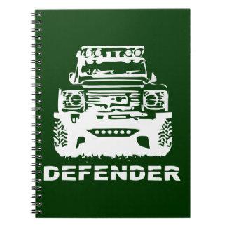 Land Rover Defender Classic Vintage Hiking Duck Spiral Notebook