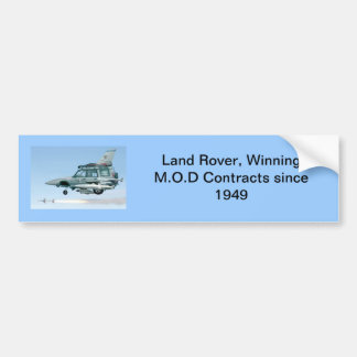 Land Rover discovery fighter jet bumper sticker