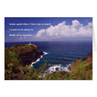 Land's End #1 with poem: Some Quiet Times Card