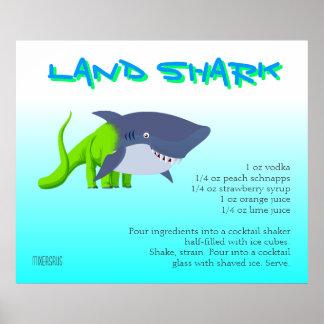 Land Shark Drink Recipe Poster