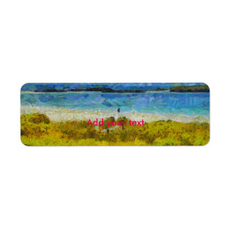 Land strip in water return address label