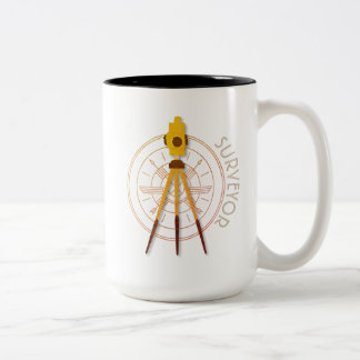 Land Surveyor Compass Two-Tone Coffee Mug