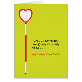 Land Surveyor Valentine Card of Heart-Shaped Prism