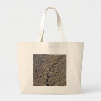 land veins large tote bag