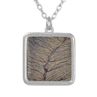 land veins silver plated necklace