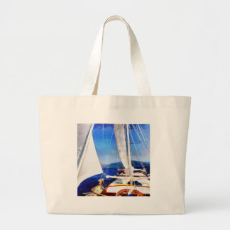 Land Was Created For Boats To Visit Large Tote Bag