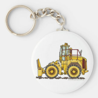 Landfill Compactor Construction Key Chains