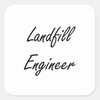 Landfill Engineer Artistic Job Design Square Sticker