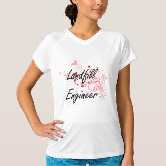 Landfill Engineer Artistic Job Design with Hearts T Shirt