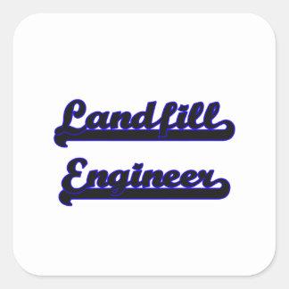 Landfill Engineer Classic Job Design Square Sticker