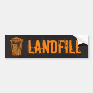 Landfill Garbage Trash Can Label Bumper Sticker