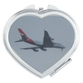 Landing Aircraft Heart Compact Mirror