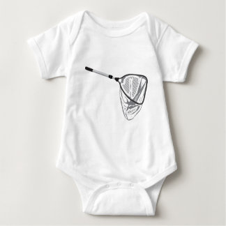 Landing fishing net vector illustration clip-art baby bodysuit