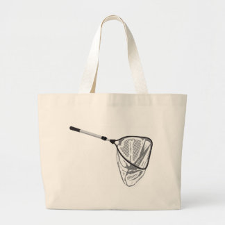 Landing fishing net vector illustration clip-art large tote bag
