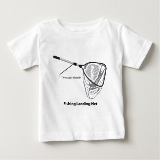 Landing net for fishing illustration marked baby T-Shirt