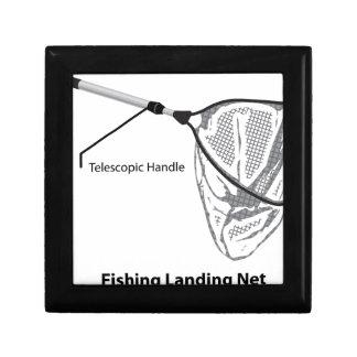Landing net for fishing illustration marked gift box