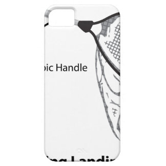 Landing net for fishing illustration marked iPhone 5 cases