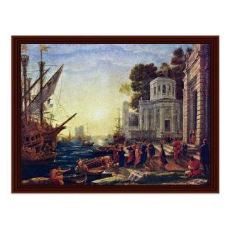 Landing Of Cleopatra At Tarsus By Lorrain Claude Postcard