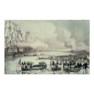 Landing of the American Force at Vera Cruz Poster