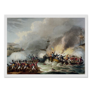Landing of the British Troops in Egypt, March 1801 Poster