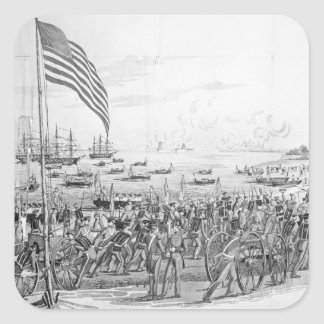 Landing of the Troops at Vera Cruz, Mexico Sticker