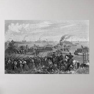 Landing of troops on Roanoke Island Poster