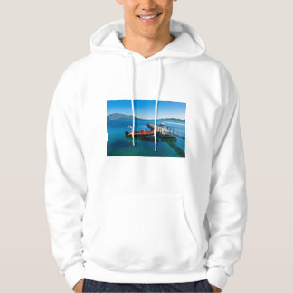 Landing stag and speed boat hoodie