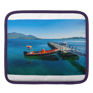 Landing stag and speed boat iPad sleeve