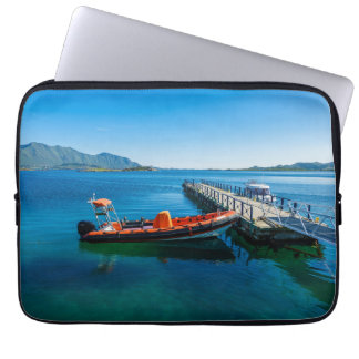 Landing stag and speed boat laptop sleeve