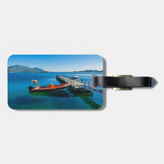 Landing stag and speed boat luggage tag