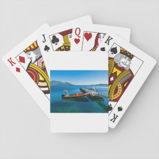 Landing stag and speed boat playing cards