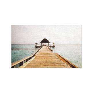 Landing Stage | Ocean | Yoga Canvas Print