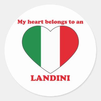 Landini Round Stickers