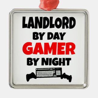 Landlord by Day Gamer by Night Metal Ornament