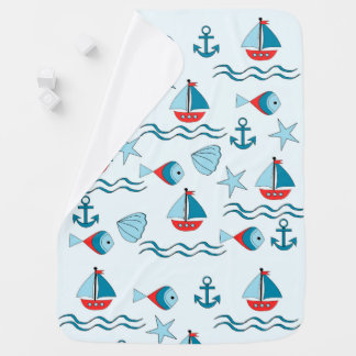 landlord nautical baby blanket