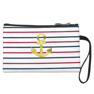 landlord nautical suede wristlet