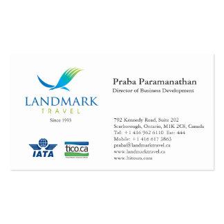 Landmark Travel Business Card