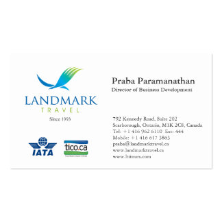 Landmark Travel Pack Of Standard Business Cards
