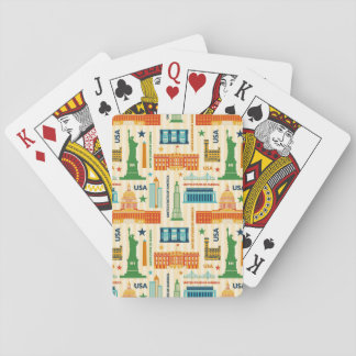 Landmarks of United States of America Playing Cards